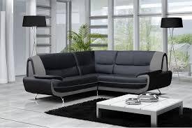 canape d angle en cuir noir canape d angle cuir noir et blanc canapé idées de décoration de