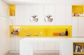 Yellow Kitchen Ideas Kitchen White And Yellow Accent Modern Kitchen Design Ideas With