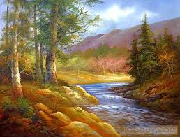 simple paintings for beginners landscape peaceful nature oil painting tide com