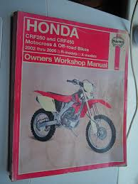 honda crf 250 450 repair manual haynes service manual workshop