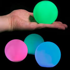 abs led pit balls illuminate remote operated rgb color