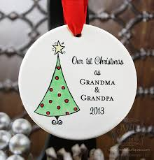 and ornament as grandparents