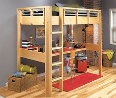 Diy Bunk Bed With Desk Under by Free Diy Full Size Loft Bed Plans Awesome Woodworking Ideas How To