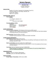 College Student Job Resume by Making A High Resume Resume For Your Job Application