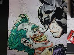 batman vs joker colored pencil drawing by tyklug2013 on deviantart