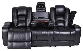 Black Leather Reclining Sofa Furniture Exciting Synergy Furniture With Elegant Trend Styles