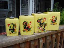 wooden canisters kitchen kitchen accessories rooster yellow decorative kitchen canisters