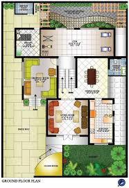 bungalow ground floor plan round designs