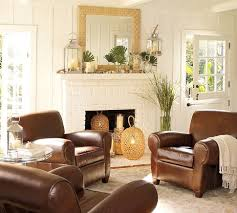 club chairs for living room manhattan leather club chair pottery barn 4 of these in a circle
