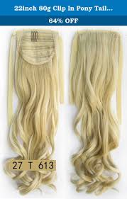 Pony Wrap Hair Extension by 22inch 80g Clip In Pony Tail Hair Extension Wrap Around Ponytail