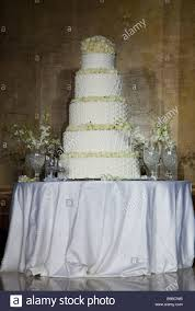 tiered wedding cakes tiered wedding cake on table beirut lebanon middle east asia stock