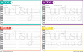 printable index cards maker 25 free printable recipe cards home cooking memories