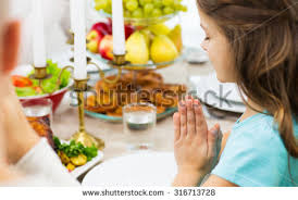 family religion thanksgiving tradition stock photo