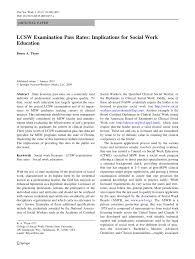 lcsw examination pass rates implications for social work education