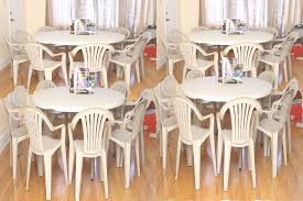 plastic round table and chairs picture 6 of 37 tables and chair rentals beautiful plastic table