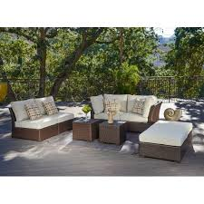 corvus oreanne 8 piece brown wicker patio furniture set free