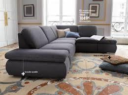 canapé d angle gris conforama canape angle noir conforama maison design hosnya com