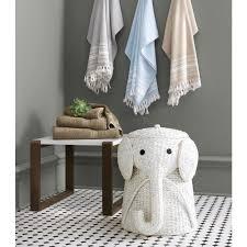white laundry basket hamper wicker elephant woven clothes bin lid