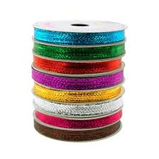 christmas wired ribbon solid metallic christmas wired ribbon 3 8 inch 10 yards