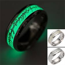 lord of the rings wedding band the lord of ring fluorescent glowing finger rings stainless steel