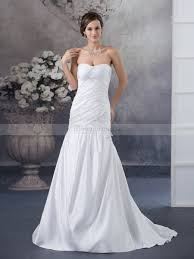 sweetheart neckline mermaid satin wedding dress with corded top