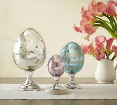 Easter Decorations Pottery Barn by Mercury Eggs On Stands Pottery Barn