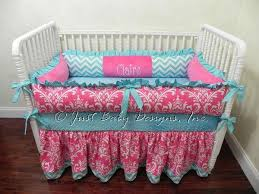 custom crib bedding claire pink damask babybedding