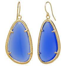 blue drop earrings gold plated blue drop earrings gold blue target