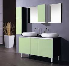 decorative bathroom double vanity with center tower using narrow