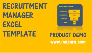 Candidate Tracking Spreadsheet Recruitment Manager Excel Template V1 Product Demo Youtube