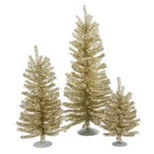 vickerman 12 18 24 chagne mini tree set 391t