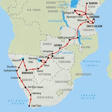 Victoria Falls Map South Africa Tours And Safari Holidays On The Go Tours