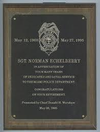 retirement plaque wording chief retirement plaques