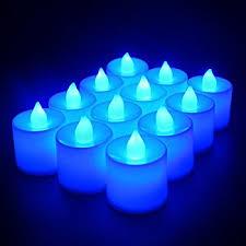 blue tea light candles amazon com 24 pack led tea lights candles flickering flameless