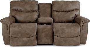 Ashley Reclining Loveseat With Console Casual La Z Time Full Reclining Loveseat W Console By La Z Boy