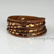 rhinestone leather wrap bracelet images Crystal slake bracelets shiny rhinestone bracelet bling bling jpg