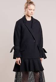 designers remix designers remix edith classic coat black zalando co uk
