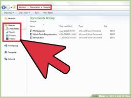 3 ways to print a list of files wikihow
