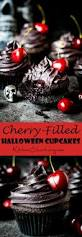 Halloween Cupcakes by Halloween Black Cupcakes With Cherry Filling Nicky U0027s Kitchen