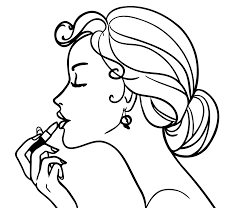 coloring girls coloring pages for girls makeup cosmetics