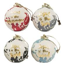 his advent names ornaments set of 4 barbara rainey
