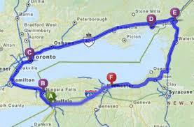 Buffalo New York Map Lake Ontario Circle Us Lighthouse Society