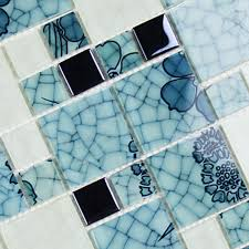 bathroom pattern crystal glass mosaic kitchen tiles washroom backsplash bathroom blue