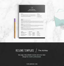 Resume Format For Master Degree Student Resume Template The Ashley Resume Templates Creative Market