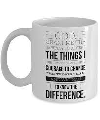 serenity prayer mug serenity prayer mug 11 oz ceramic coffee cup aa recovery gift