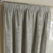 nova pearl crushed velvet pencil pleat thermal lined curtains