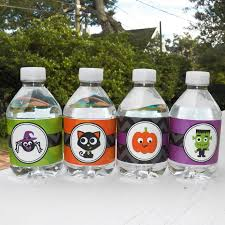 halloween water bottle labels by that party ghosts and ghouls