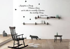 imperfection is beauty madness is genius marilyn monroe quote wall decoration imperfection is beauty madness is genius marilyn monroe quote wall decal removable wall sticker butterfly