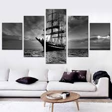 night boat canvas set bedroom decoration pictures wall decor painting modular paintings on the wall canvas