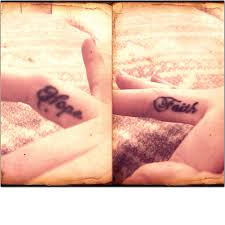 tattoo finger hope hope faith discovered by alex on we heart it